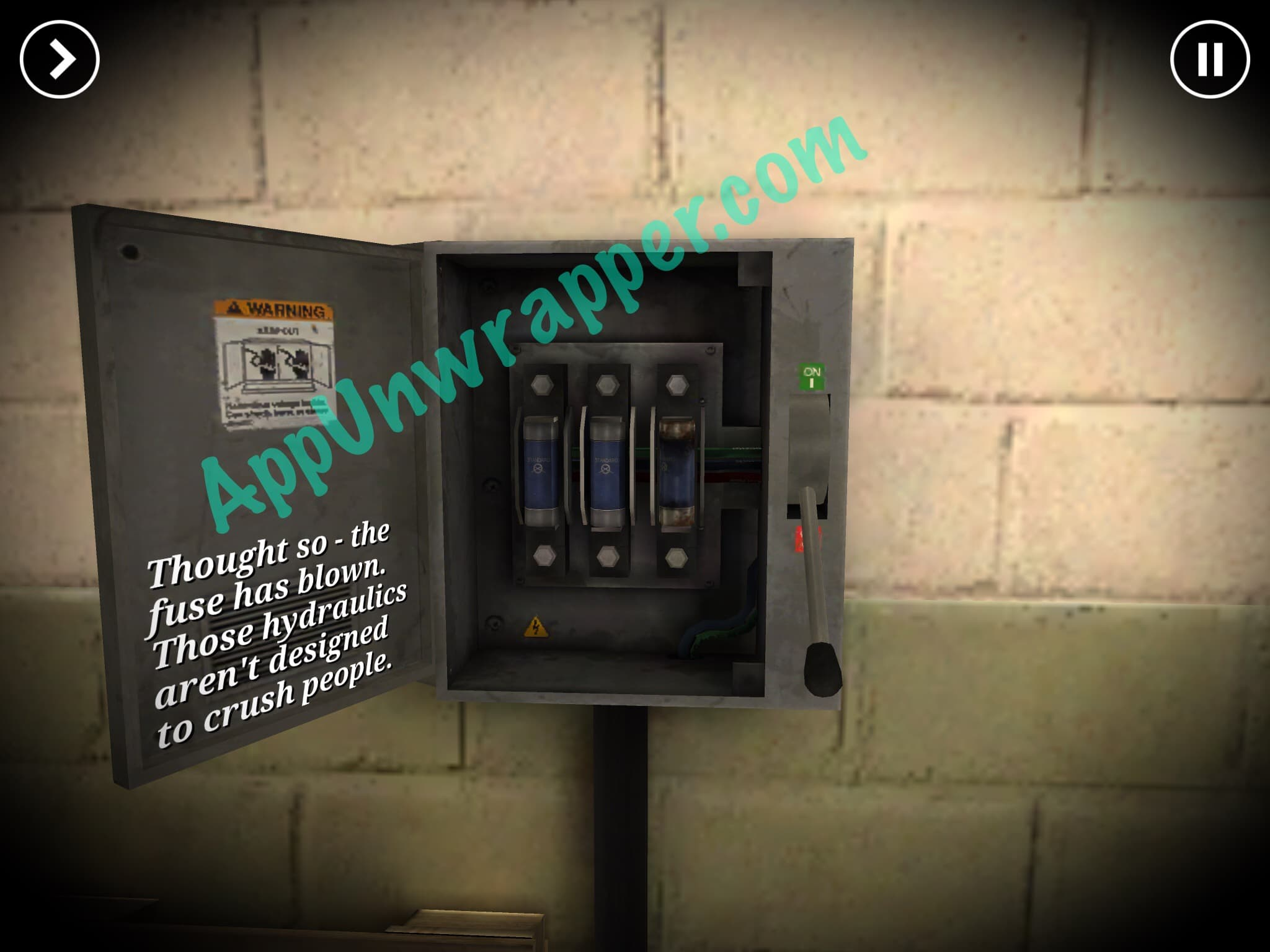 The Trace Murder Mystery Game Walkthrough Guide Appunwrapper Fuse Box Help Desk Leave That Room And Turn To Other Use Screwdriver Open It Up Lever Is Rusted So Lubricant On