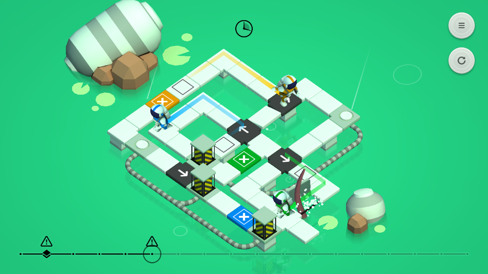 causality does ease you into things a bit more gradually than snakebird does but for most of the game theres no hand holding - Causality Halloween Walkthrough